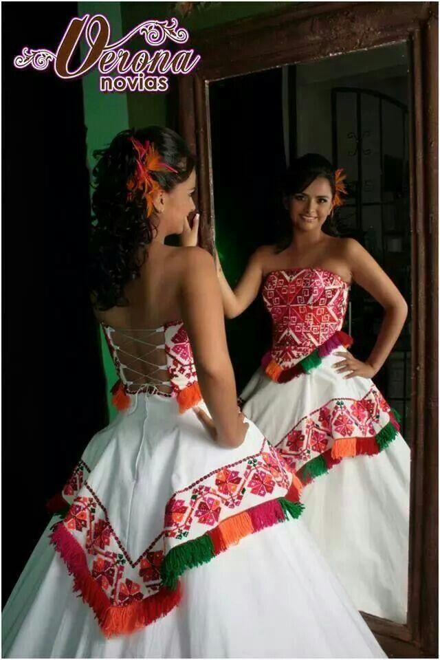 Una Boda, De Novia, La Boda Ideal, Mi Boda Mexicana, Novia Estilo, Huasteca, México Lindo, Precioso, Vestido De
