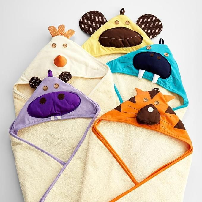 Originales capitas de baño. Baby Hooded Towel