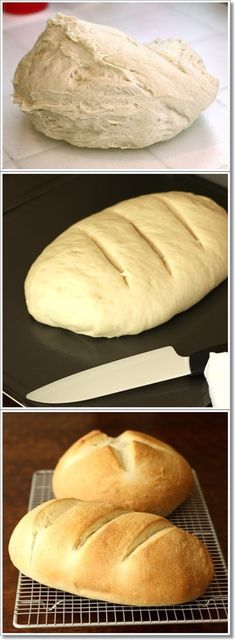 Easy one-hour bread... literally takes 1 hr from start to finish and makes 2 loaves. Great sandwich bread...