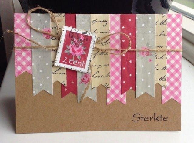 Annemarie's kaarten: 3 x strookjes