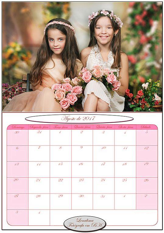 Calendario Agosto de 2017-Calendarios2017-  Ensaio infantil-albuminfantil-bookinfantil-retratos-fotografainfantilembh -retratos