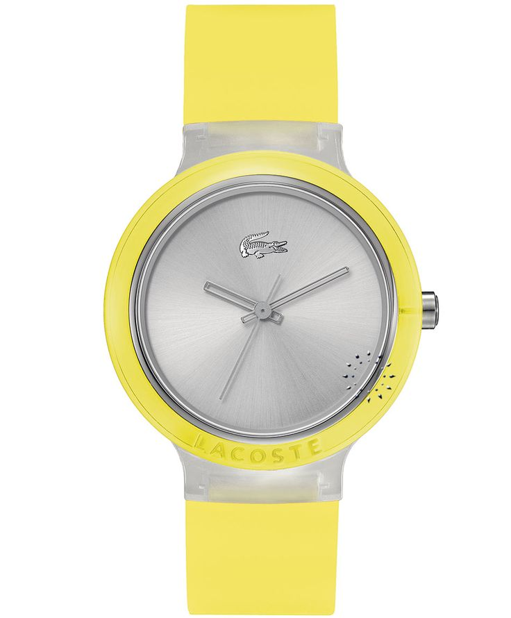 LACOSTE GOA Yellow Rubber Strap Η τιμή μας: 69€ http://www.oroloi.gr/product_info.php?products_id=35416