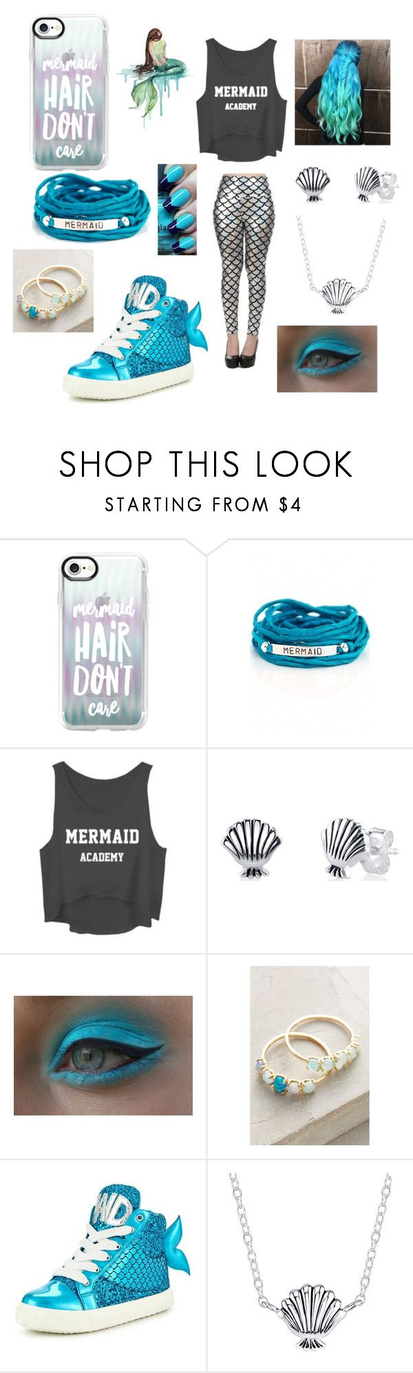 """Mermaids Swim (Collection)"" by skye-plays-too-many-video-games ❤ liked on Polyvore featuring Casetify, WALL, Blooming Lotus Jewelry, Disney, Anthropologie and Miss KG"