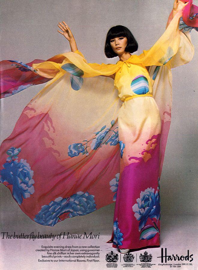 1976 ad for Hanae Mori.