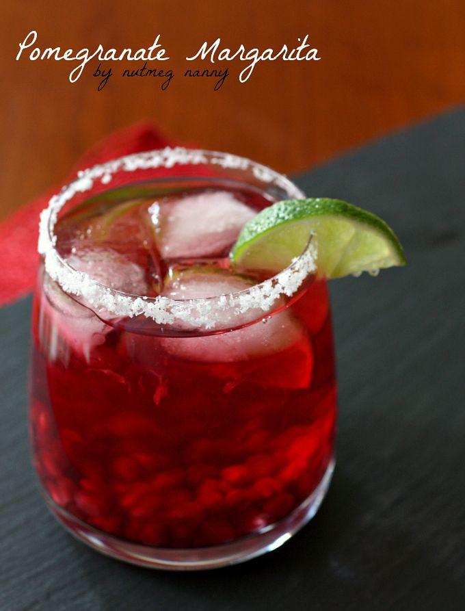 Pomegranate Margarita by Nutmeg Nanny {The Twelve Boozy Days of Christmas}