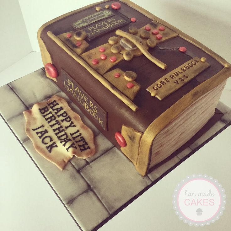 What do ya say we get a cake like that for our one year anniversary (not for a long while) except with a 5th edition book?