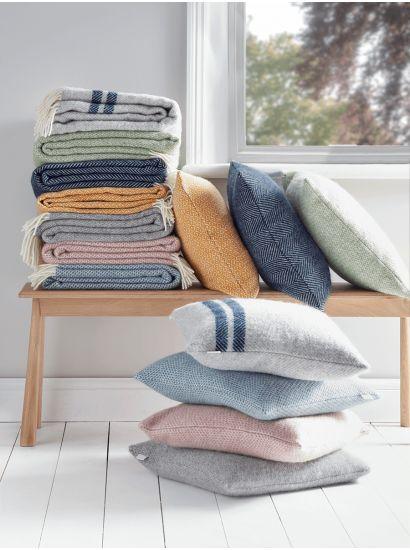 Soft Wool Cushion - Grey