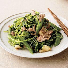 豆苗と豚肉のにんにく塩炒め by植松良枝さんの料理レシピ - レタスクラブニュース