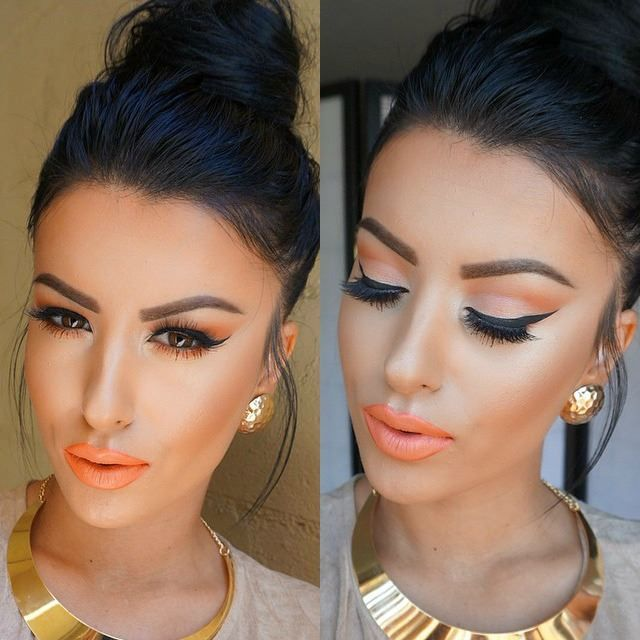 The first time I have seen orange lipstick look good on anyone, this deserved to be pinned!