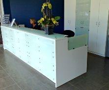 Counter & matching storage cupboards by Decorum Designs