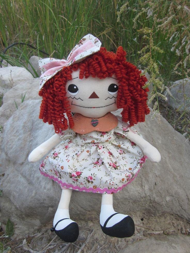 Muñeca de trapo tipo Raggedy