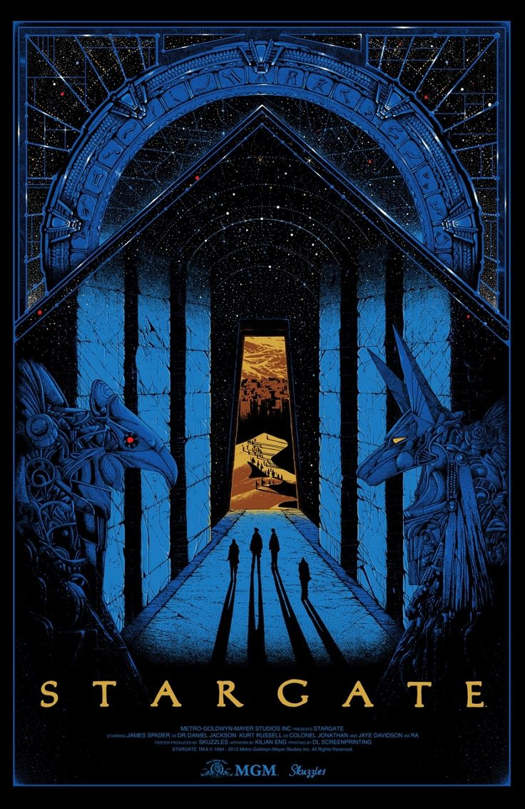 Stargate (see more on http://www.tranchesdunet.com/affiches-de-films-revisitees/ )