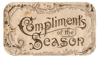 Victorian Holiday Label - The Graphics Fairy