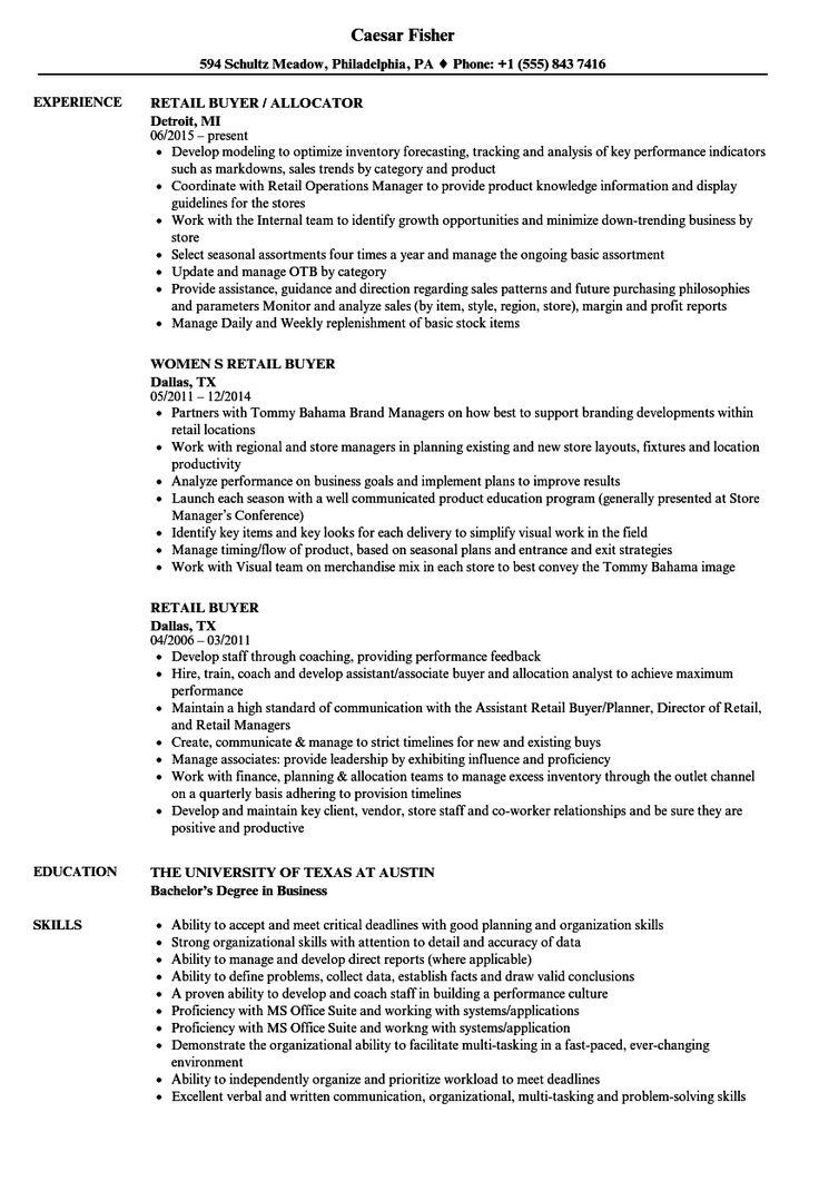 Retail Buyer Resume Samples Customer service resume