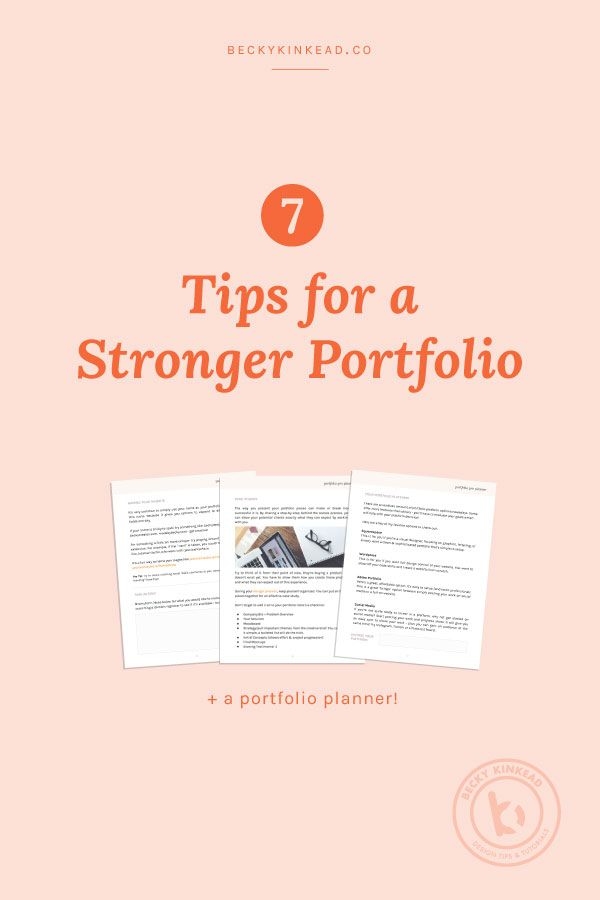 7 tips for a stronger graphic design portfolio click to read the article or pin