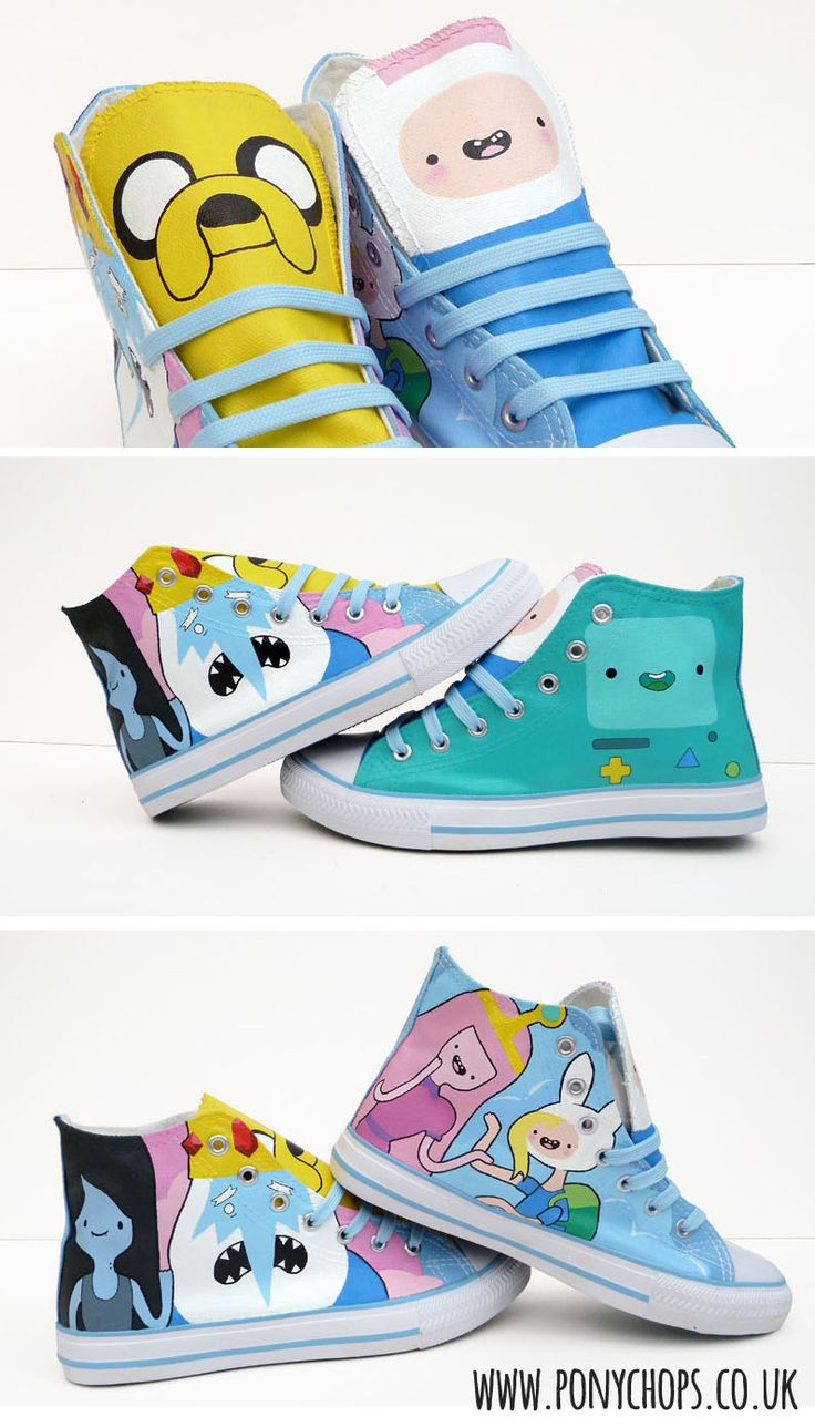 Adventure Time High Tops OMG MY INNER GEEK NEEDS THEM