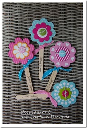 Paper flowers could be cute bookmarks