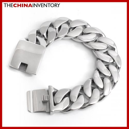 24MM 7.5` CHUNKY STAINLESS STEEL CURB BRACELET B3402