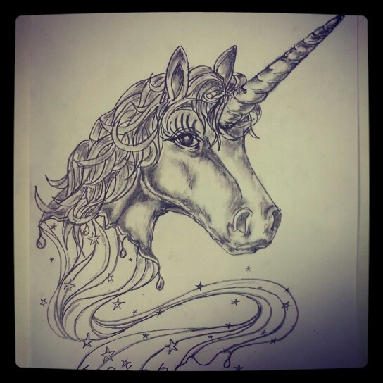 17 best images about stars unicorn tattoo on pinterest for Unicorn horn tattoo
