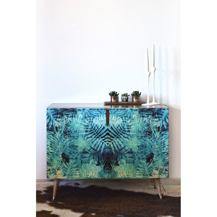DENY Designs Marta Barragan Camarasa Blue Tropical Jungle Credenza - 63721-CREWOD
