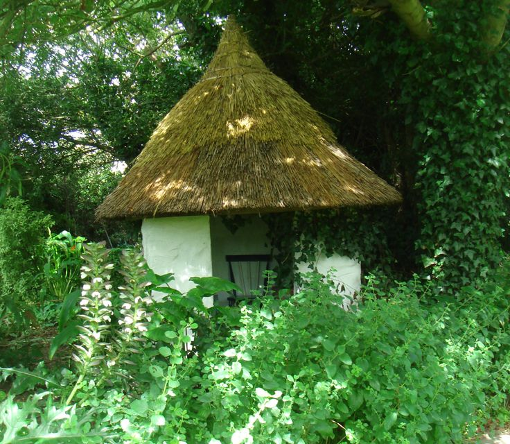 The fairy house hidden in the cottage gardens.