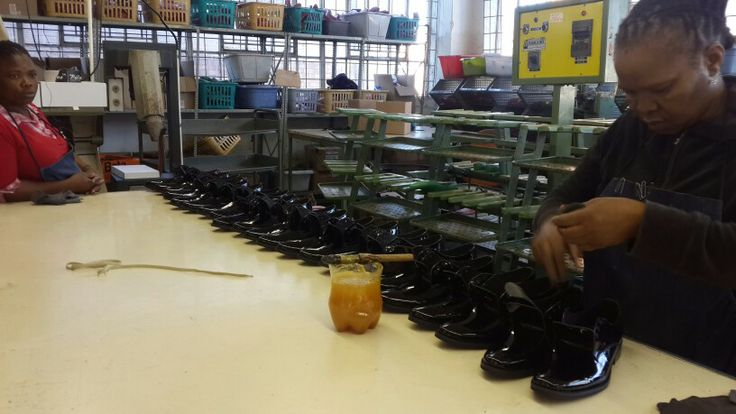 Shoe shine. Local production in Jeppe