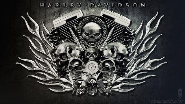 images for harley davidson skull wallpaper harley. Black Bedroom Furniture Sets. Home Design Ideas