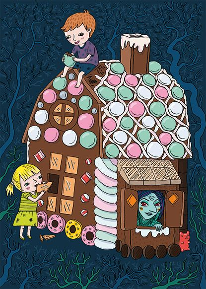Emmi Jormalainen fairytale illustration hansel and gretel