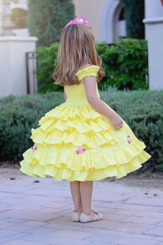 Girls Belle dress от SoSoHippo на Etsy