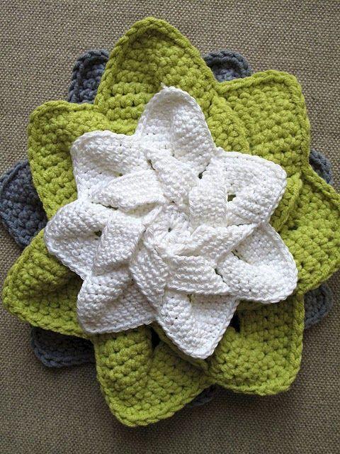 Pretty!Crochet Dishcloth, Free Pattern, Crochet Flower, Twinkle Twinkle, Flower Ideas, Crochet Doilies, Crochet Pattern, Crochet Knits, Crochet Stars