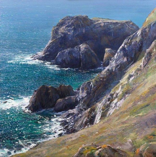 Paul Lewin - Late Summer Light, Lion Rock Kynance