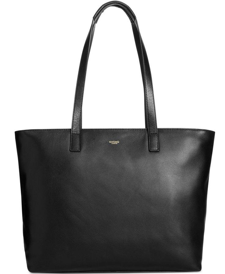 Knomo London Leather Laptop Tote - Handbags & Accessories - Macy's