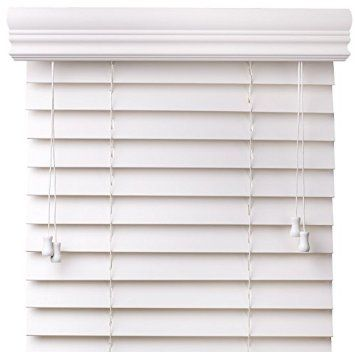 Amazon.com - Premium 2 inch faux wood blinds, Snow White, 34 x 60 ...
