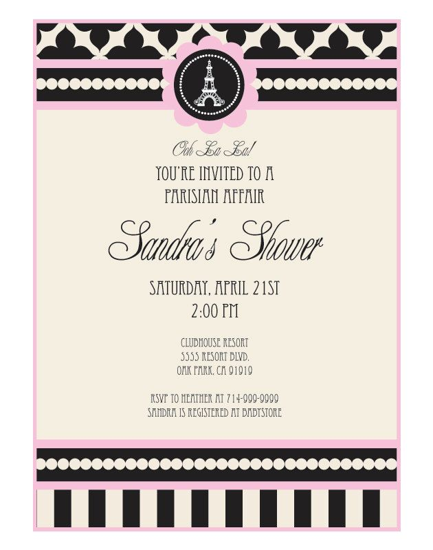 25 best paris invites images on pinterest paris party parisian paris party invitations for birthday party or bridal by modparty 2200 solutioingenieria Choice Image