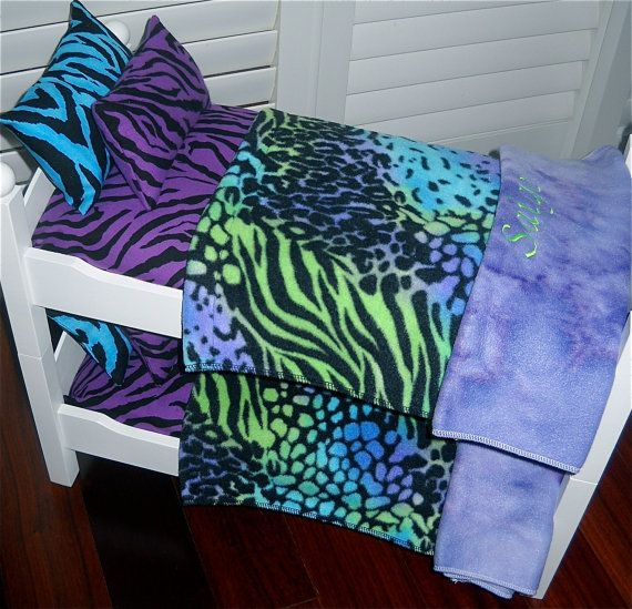 American girl doll bedding purple zebra theme doll bunk bed bedding