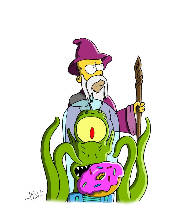 Simpsons Homer Lord of the Rings Donuts
