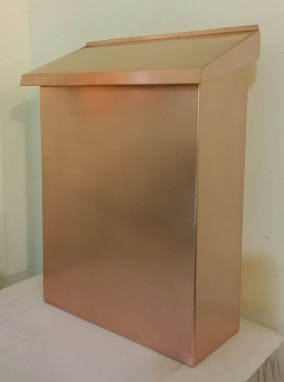Large Flush Mount vertical Copper Mailbox
