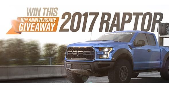 Enter to win a 2017 Ford Raptor & 2015 Ford Mustang GT! ARV: $100,000 [US Only, 21+, Weekly Entry, Ends November 11, 2016] Enter to…