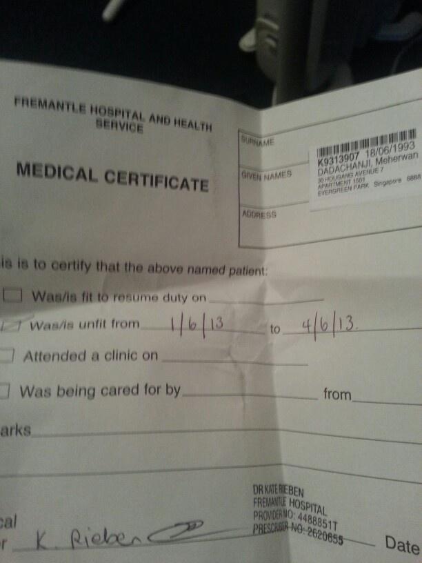 Hay que estar preparados y listos junto con sus padres de familia - free medical certificate