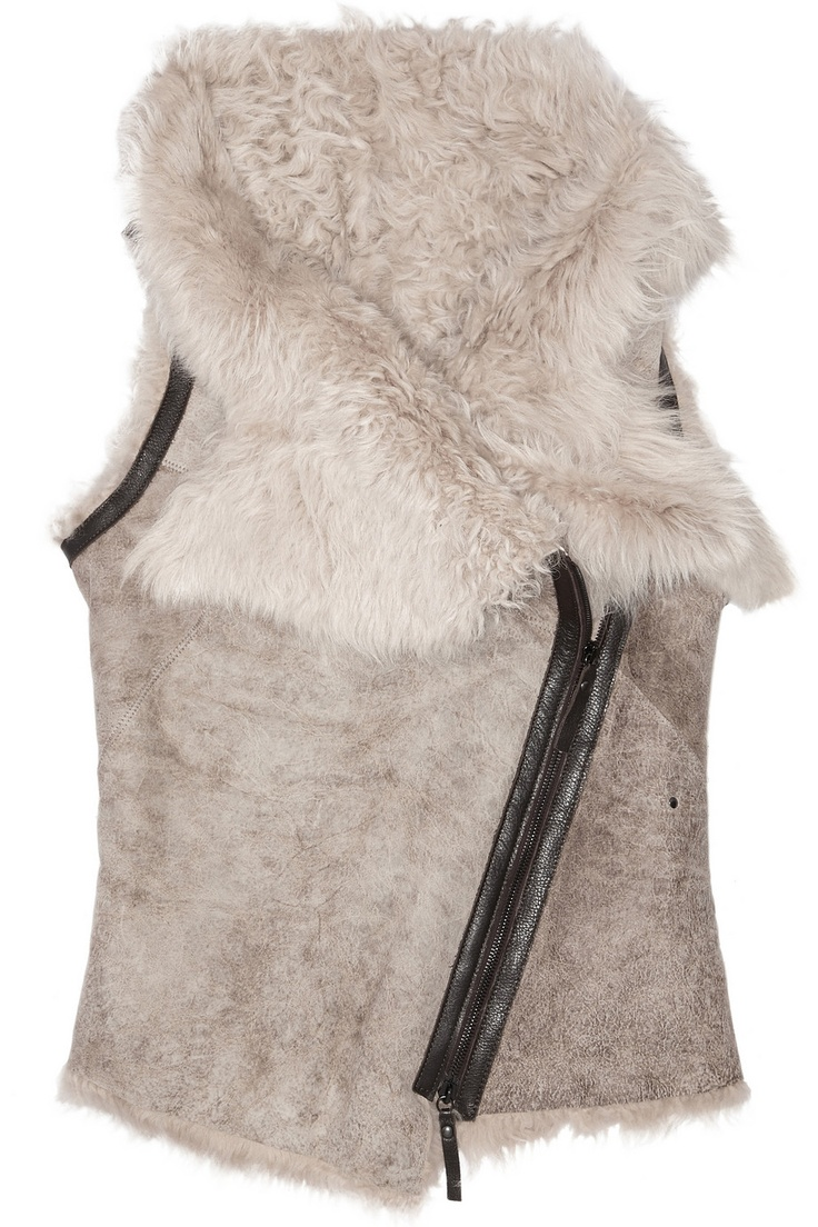Karl Donoghue | Leather-trimmed shearling gilet | NET-A-PORTER.COM