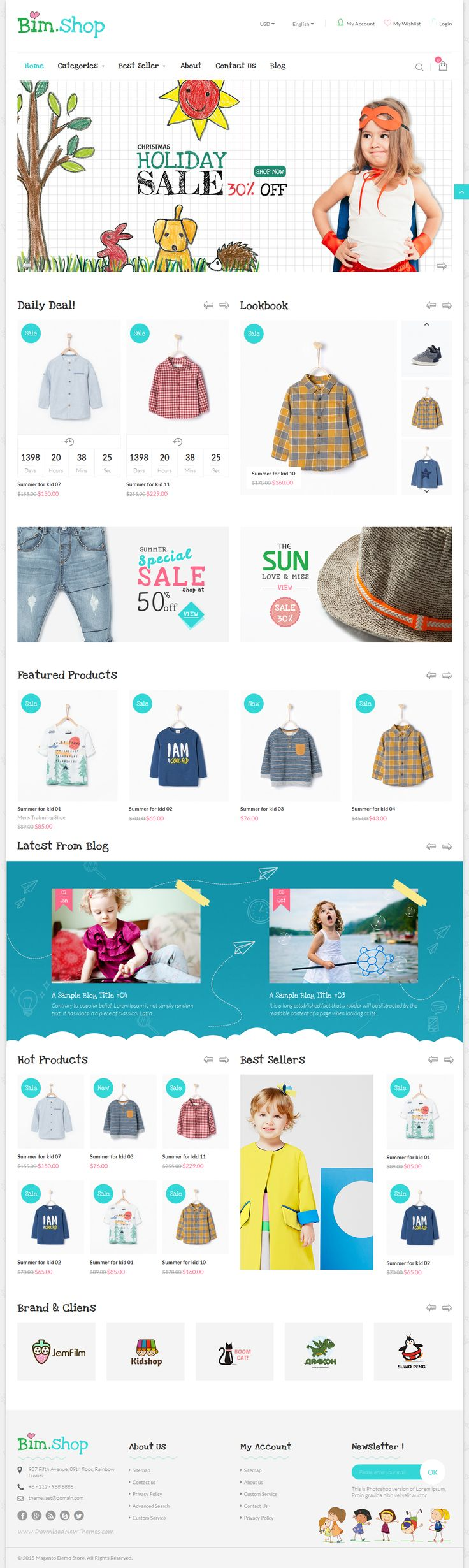 Bimshop – Kidstore Responsive #Magento Theme. It is designed with a simple, clean and clear style crafted for selling digital, technology, computer, technology, accessories, hi-tech products or any other products. #website #template #kids