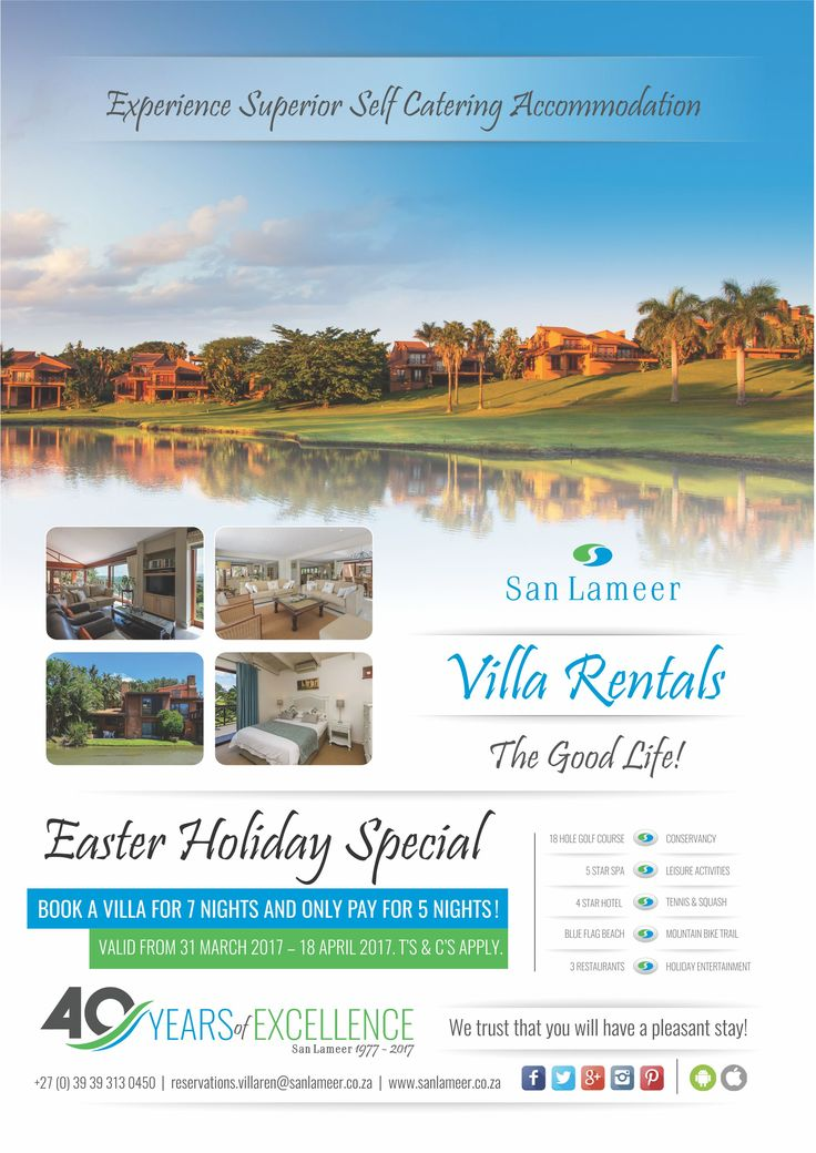 *** EASTER COMPETITION *** You could win yourself a FREE WEEKEND if you book over the Easter Holiday period. We have 5 lucky GOLDEN eggs hidden in selected villas. If you find one, you could win a free weekend at San Lameer Villa Rentals. Book NOW: https://goo.gl/2KDy2p  T's & C's Apply