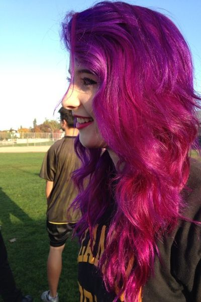 Emo Hairstyle For Long Hair with Pink