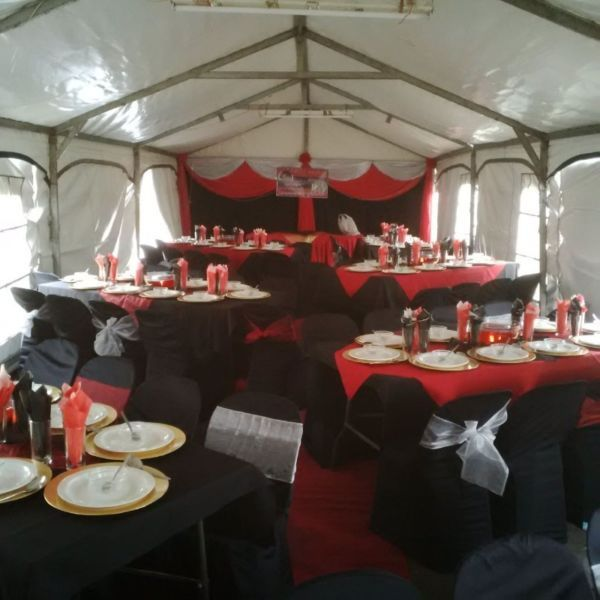 ARE YOU OR YOUR COMPANY PLANNING A YEAR END FUNCTION WHY NOT GIVE US A CALL WE SUPPLY FULL FUNCTION HIRE , CALL US NOW FOR A REASONABLE AND AFFORDABLE QUOTE WE WILL SUPPLY YOU WITH FRAMED STRUCTURED MARQUEES ROUND TABLES TRESTLES TABLE CLOTHS OVERLAYS TOE BACKS CHAIR COVERS BALFS DRAPINGCUTLERY CROCKERY CENTRE PIECES AND SO MUCH MORE WE ALSO DO FULL SETUPS , FUNCTION SETUPS ... FULL DECOR PROVIDED , YOU JUST SUPPLY YOUR VENUE AND FOOD AND WE WILL TAKE CARE OF THE REST. CALL US NOW FOR A FREE…