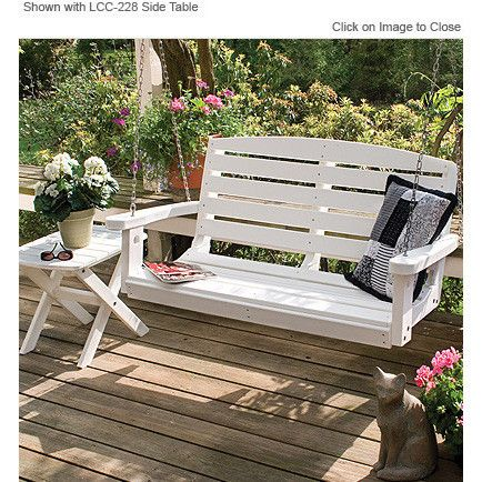Wildridge Recycled Plastic Classic 4ft Porch Swing