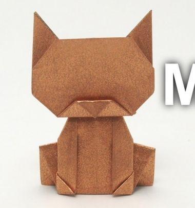 Easy origami money cat - paper folding for beginners // Egyszerű ülő origami cica (macska) - papírhajtogatás kezdőknek // Mindy - craft tutorial collection