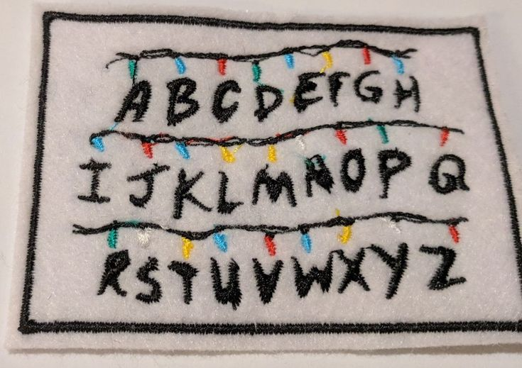 Stranger Things embroidered patch | Crafts, Sewing, Embellishments & Finishes | eBay!