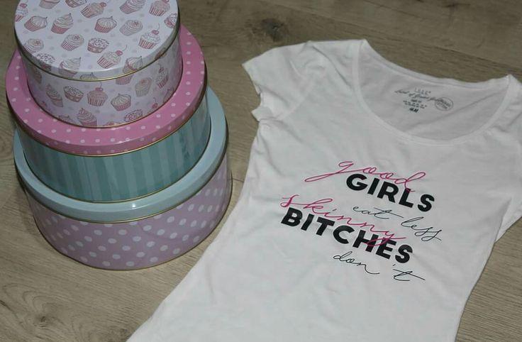 Good Girls eat less... Skinny Bitches don`t... ;) #sb #skinnybitches #bitchiful #tricousb #tricouripersonalizate