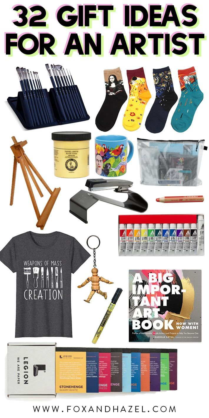 32 Fantastic Thoughtful Gift Ideas For An Artist Gifts For An Artist Gifts For Art Lovers Art Supplies Gift