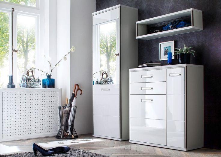 Luxury Garderobe komplett Trento Wei Edelstahl Buy now at https